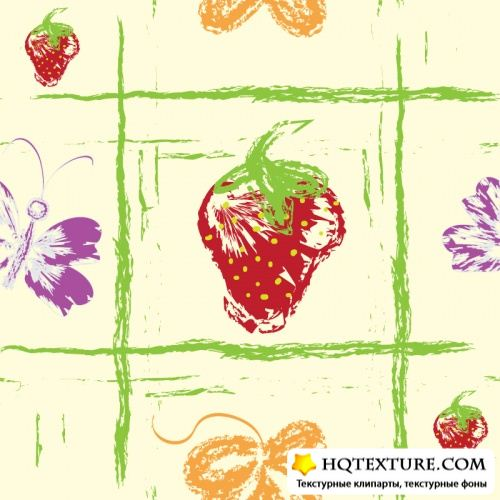 Grunge pattern with fruit
