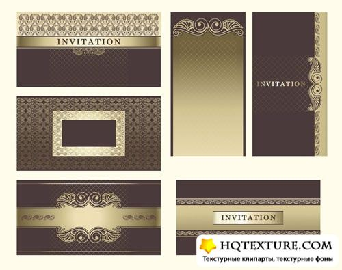 Gold invitation cards
