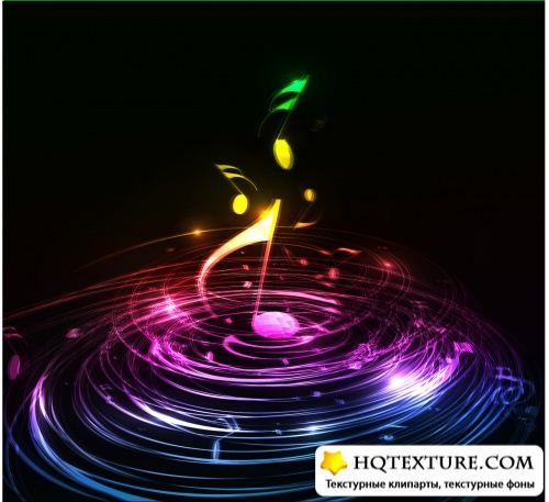 Musical Backgrounds Vector 2