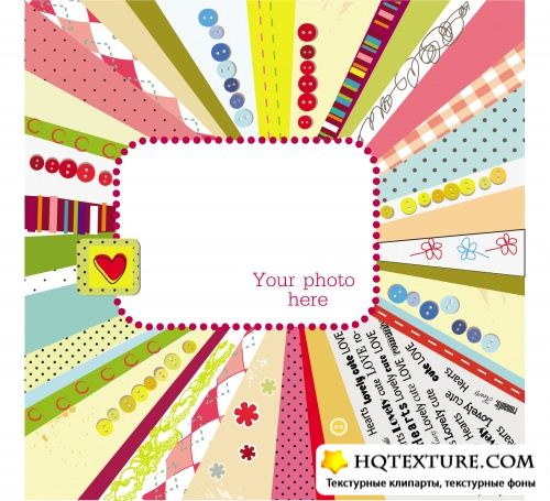 Scrapbook Color Templates Vector