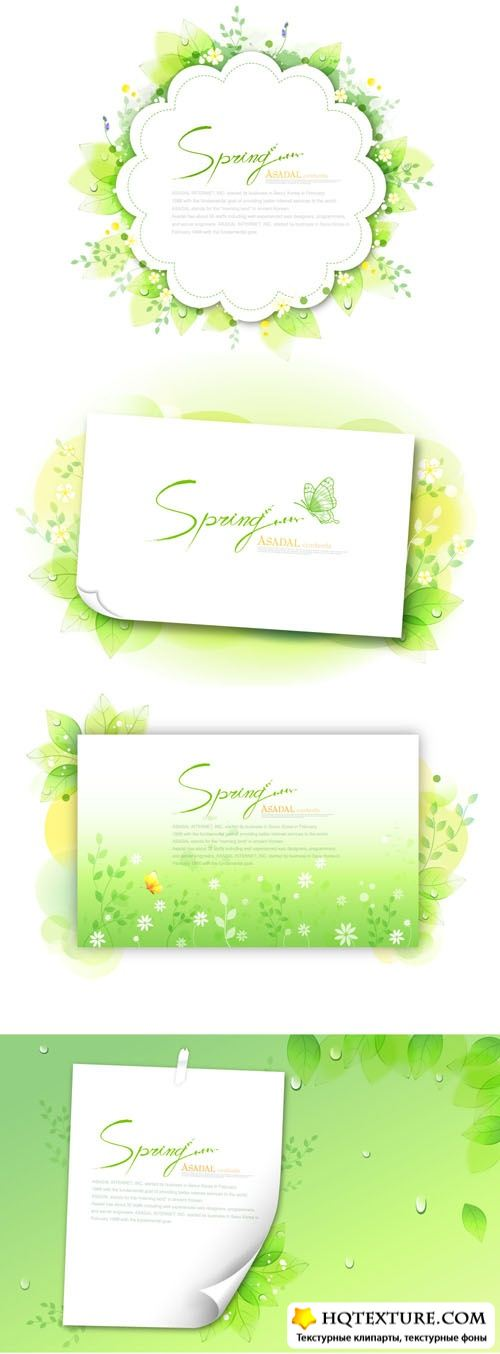 Spring paper backgrounds