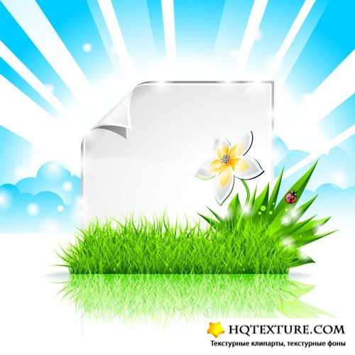 Summer Natural Backgrounds Vector 3
