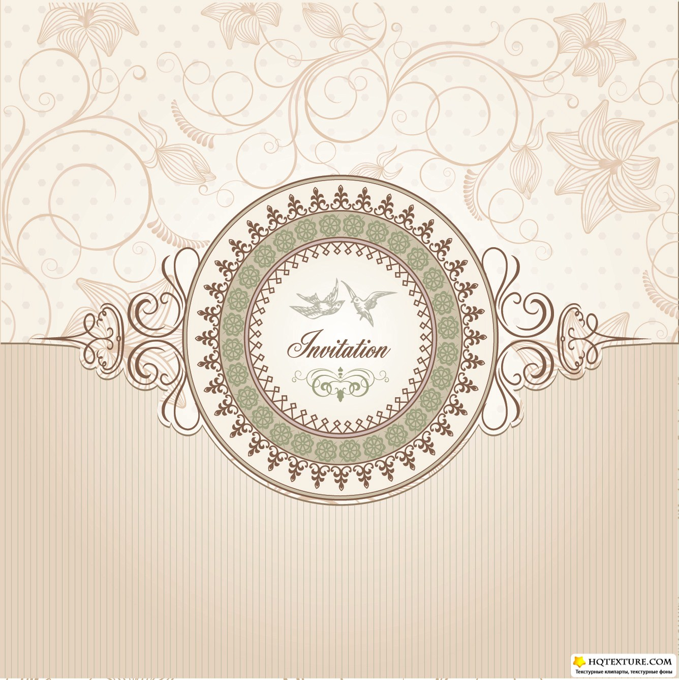 Vintage Wedding Cards Vector