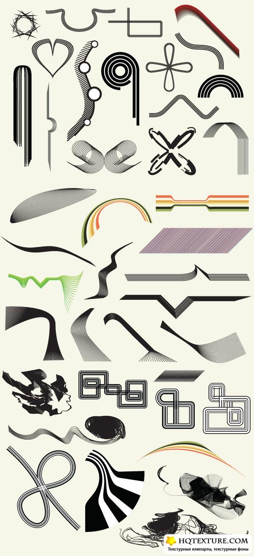 Векторные линии - Line Art Vector Vol.1 & Vol.2: hqtexture.com/vektory/linii/page/2