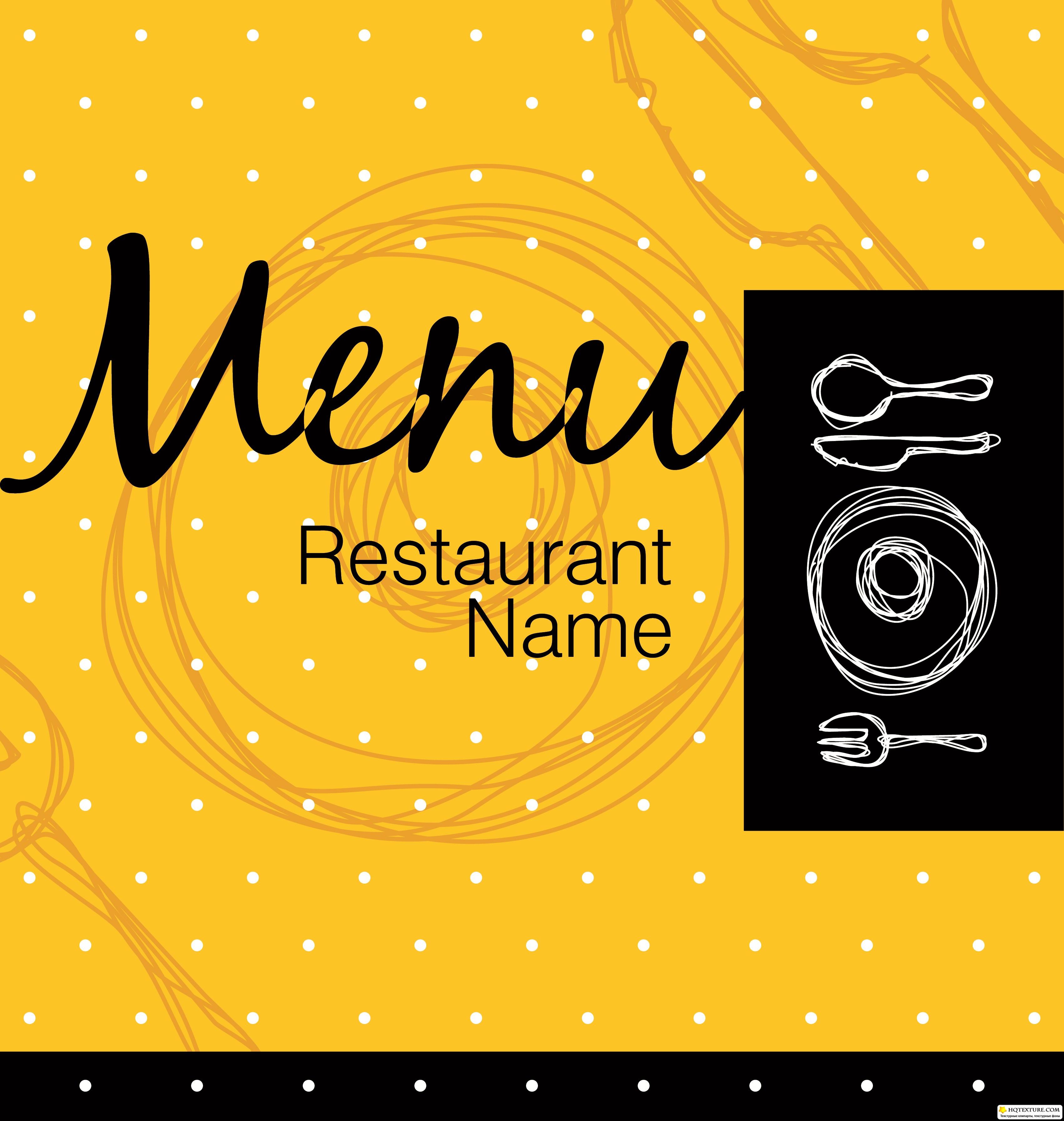 Restaurant Menu Card Design Template Stock Vector Narong : Beautiful ...