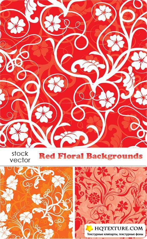 Red Floral Backgrounds