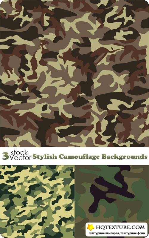 Stylish Camouflage Backgrounds Vector