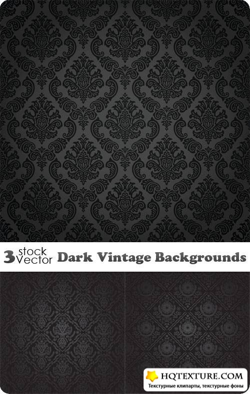 Dark Vintage Backgrounds Vector