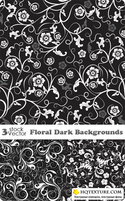 Floral Dark Backgrounds Vector
