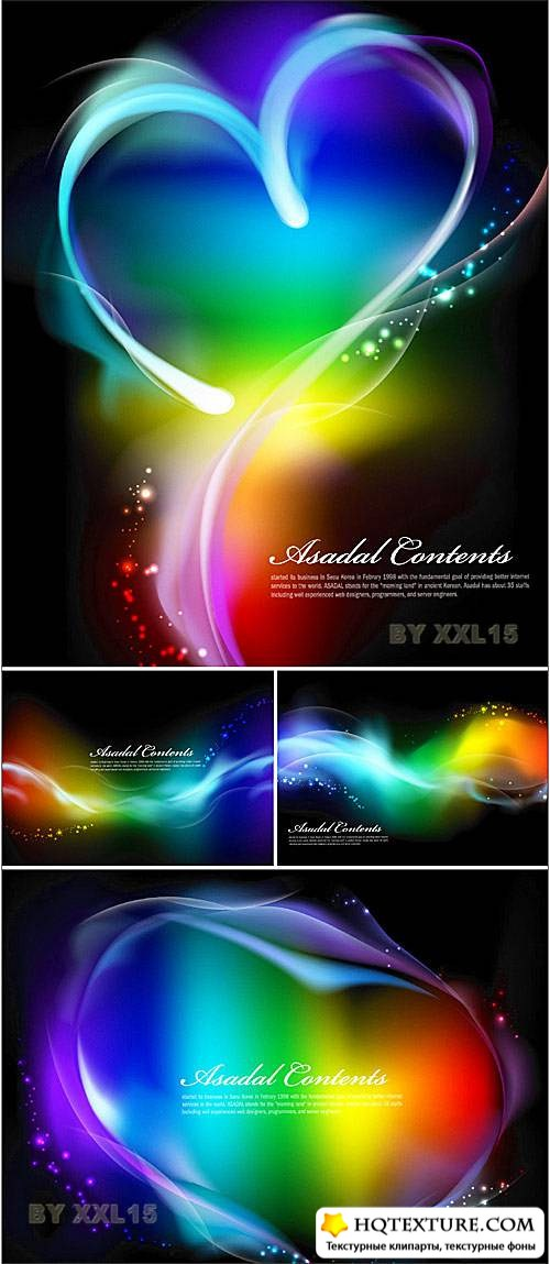 Glowing colorful backgrounds