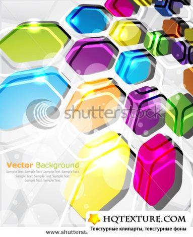 Multicolor abstract vector design