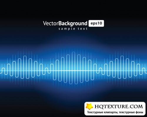 Audio wave light - Stock Vectors | Аудио волны