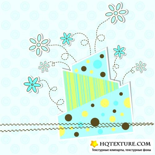 Cute Greeting Cards Vector