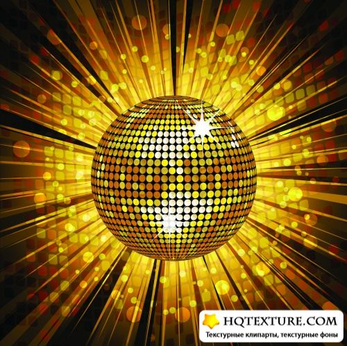 Disco Party Backgrounds Vector 2