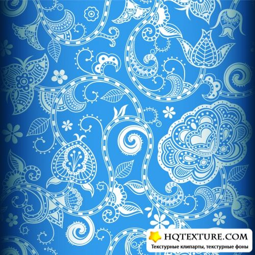 Color Floral Patterns Vector 2