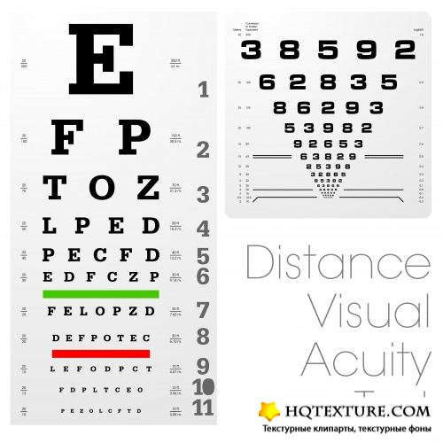 Stock Vector - Distance Visual Acuity Test