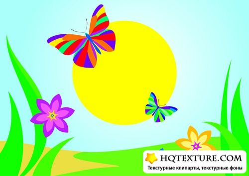 Stock Vector: Summer background 3 | Летние фоны 3