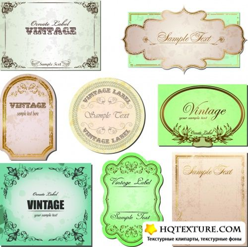 Vintage Labels Vector 3