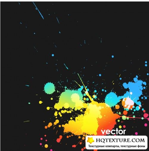 Set of Abstract Colorful Grunge Backgrounds