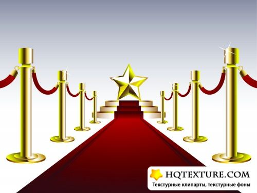 Stairs & Red Carpet Vector