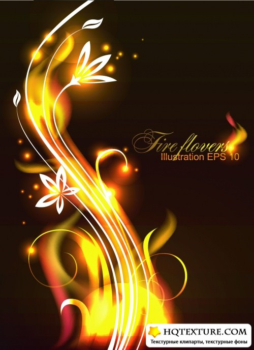 Fire Flowers Vector