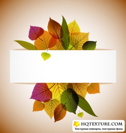 Stock Vector - Autumn Backgrounds 3