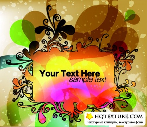 Frame for text - vector