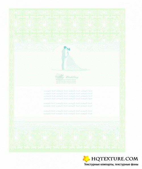 Wedding backgrounds vector 6