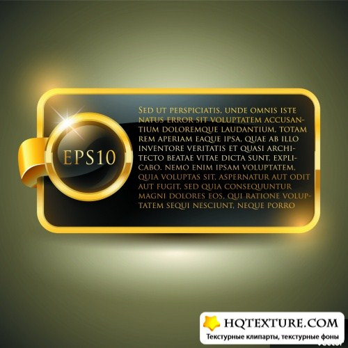 Luxury Golden Labels Vector 2