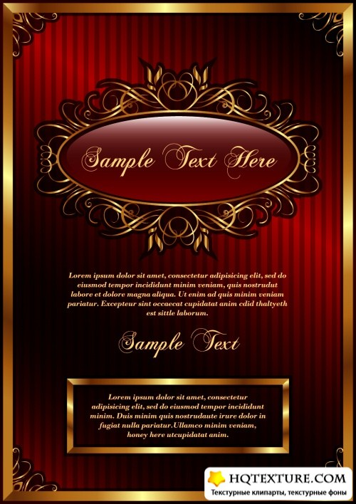 Vintage Golden Frames Vector 3