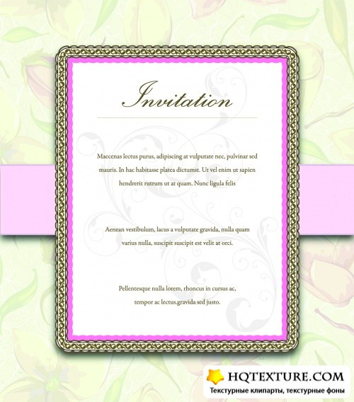 Gentle Invitations Vector