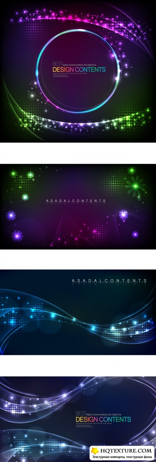 Glowing abstract backgrounds