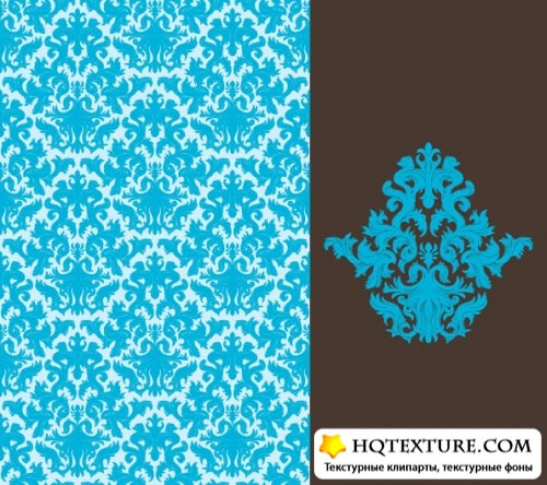 Ornate floral patterns vector