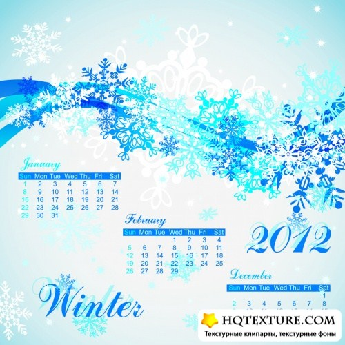 Seasonal Calendar 2012 Vector