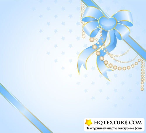 Ribbon on gift paper
