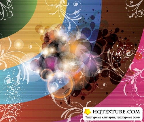 Abstract Glowing Rainbow Vector Backgrounds