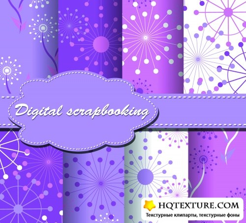 Scrapbook Color Patterns Vector 3