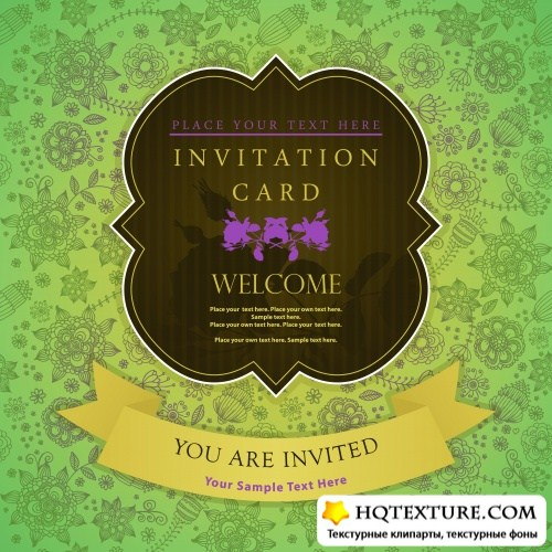 Stock Vector - Invitation Cards & Patterns