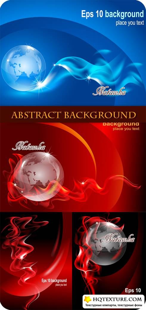 Абстрактные фоны. Abstract Background with Globe - Stock Vector