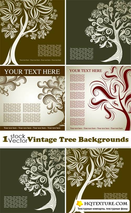 Vintage Tree Backgrounds Vector