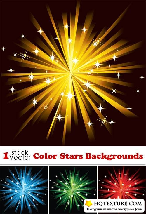 Color Stars Backgrounds Vector