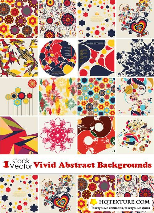 Vivid Abstract Backgrounds Vector