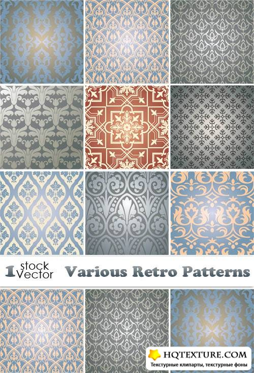 Various Retro Patterns Vector