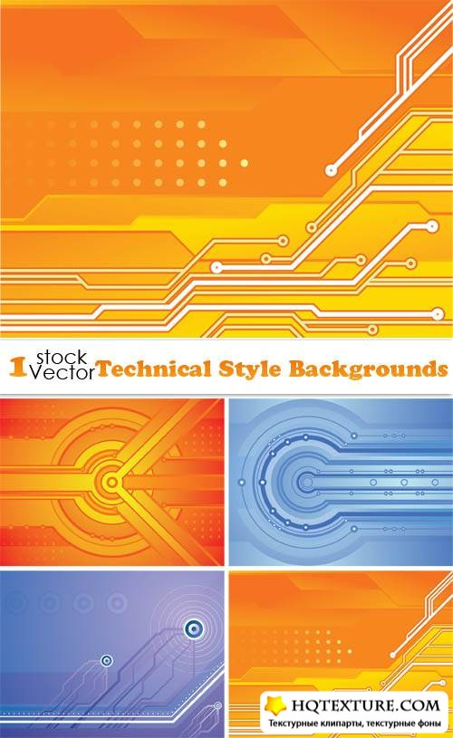 Technical Style Backgrounds Vector