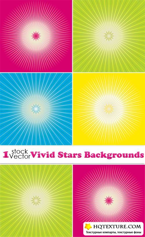 Vivid Stars Backgrounds Vector