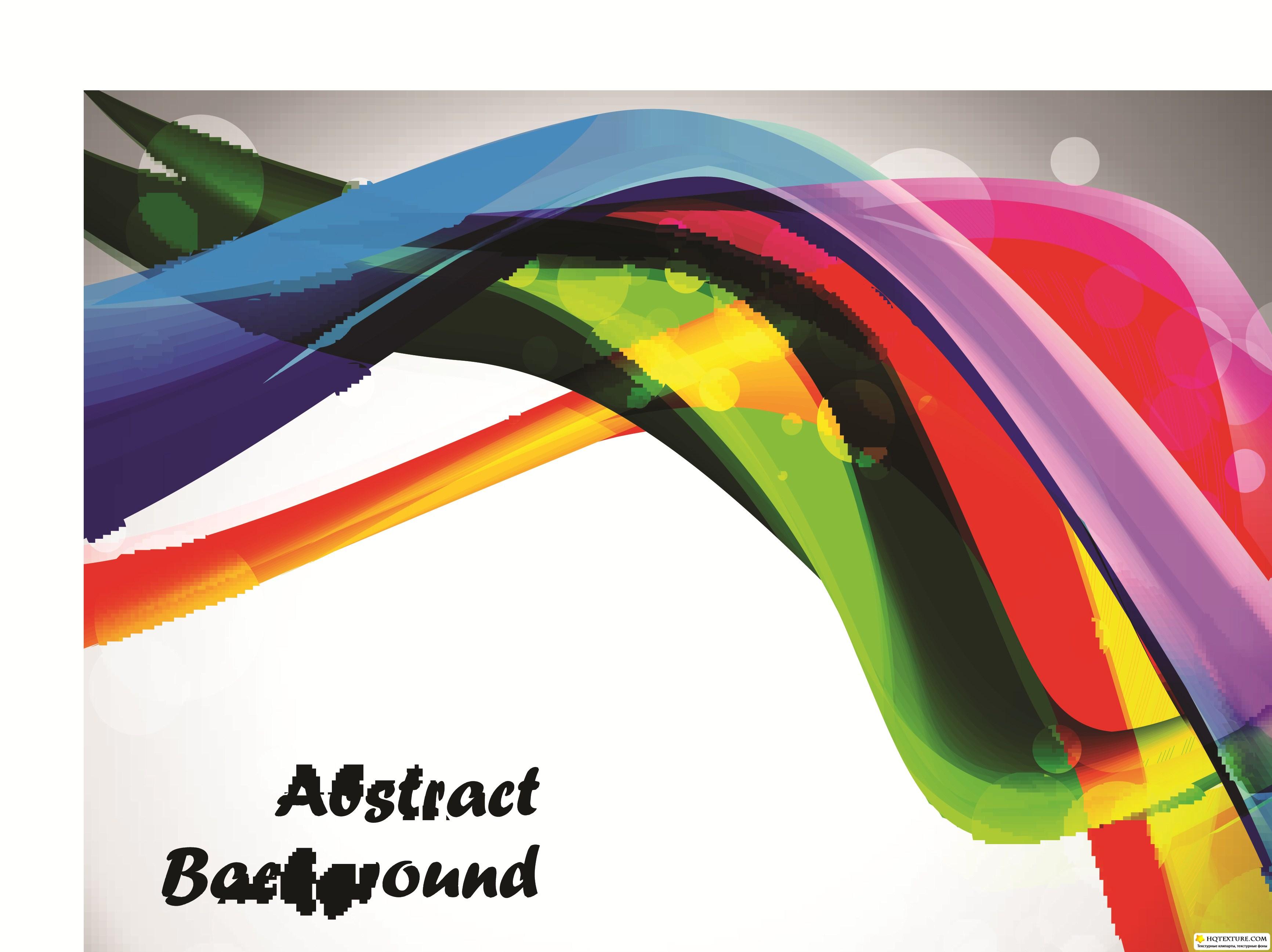 Цветные волны фон часть 3 colorful abstract wave
