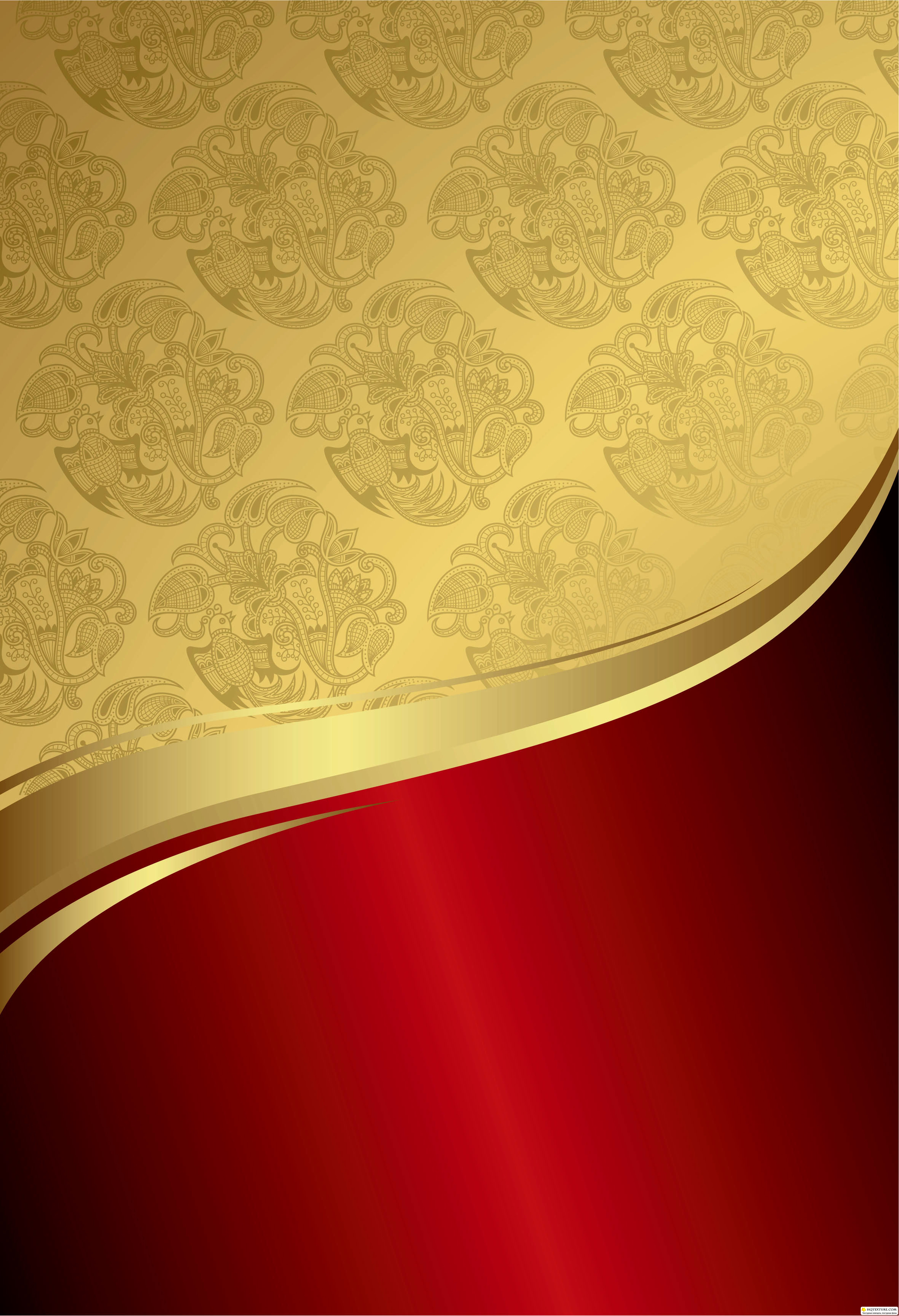 Red And Gold Wallpaper