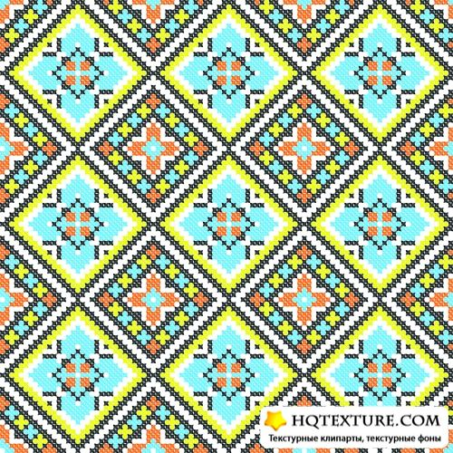 Stock Vector - Ethnic Ukraine Patterns 7