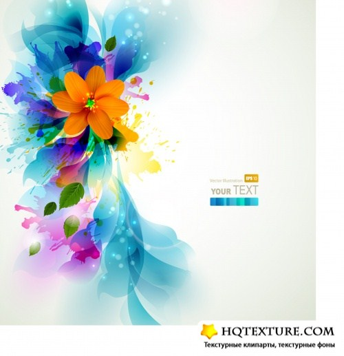 Creative background with abstract flowers