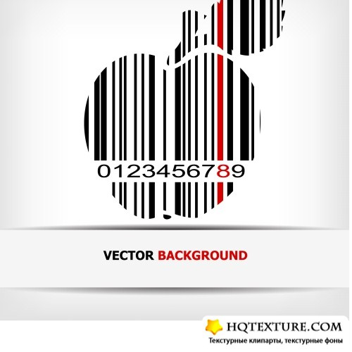 Abstract vector with barcode
